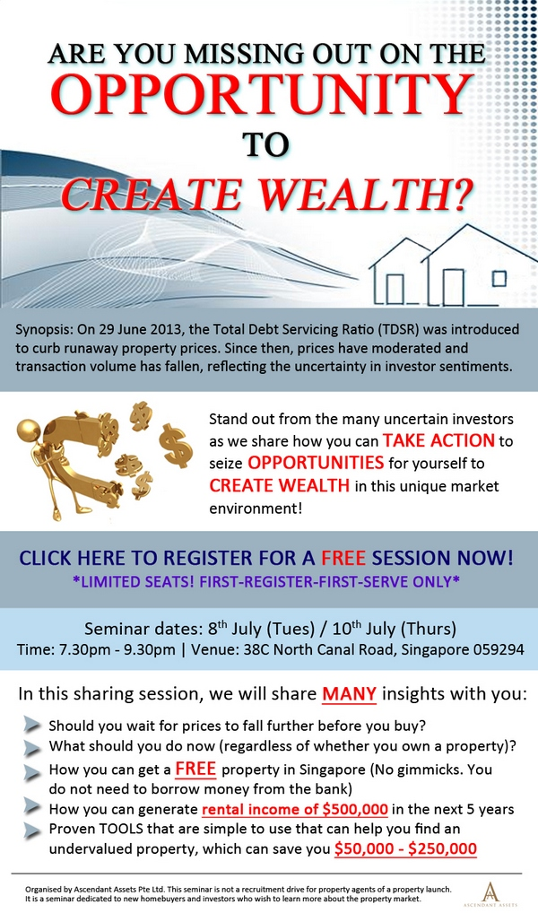 Post image for [ADV] Are You Missing Out on the Opportunity to Create Wealth?